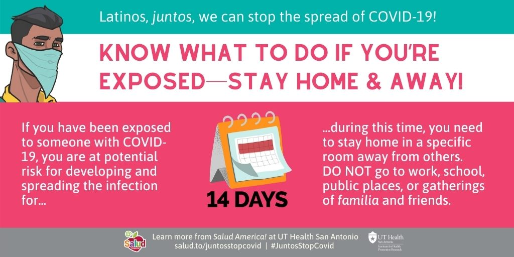 Know what to do if exposed 2: Juntos We Can Stop Covid-19 campaign coronavirus