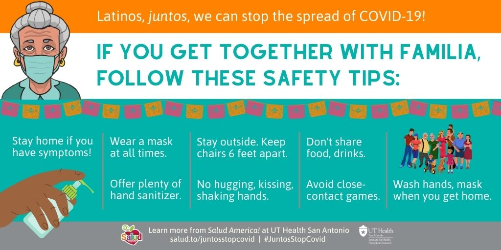 Gather safely 2: Juntos We Can Stop Covid-19 campaign coronavirus